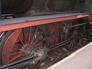 Räder einer alten Lokomotive