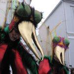 karnevalszeit, insektenähnliche Masken