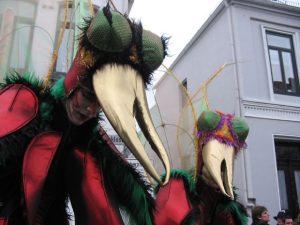 Sind wir Jeck? karnevalszeit, insektenähnliche Masken