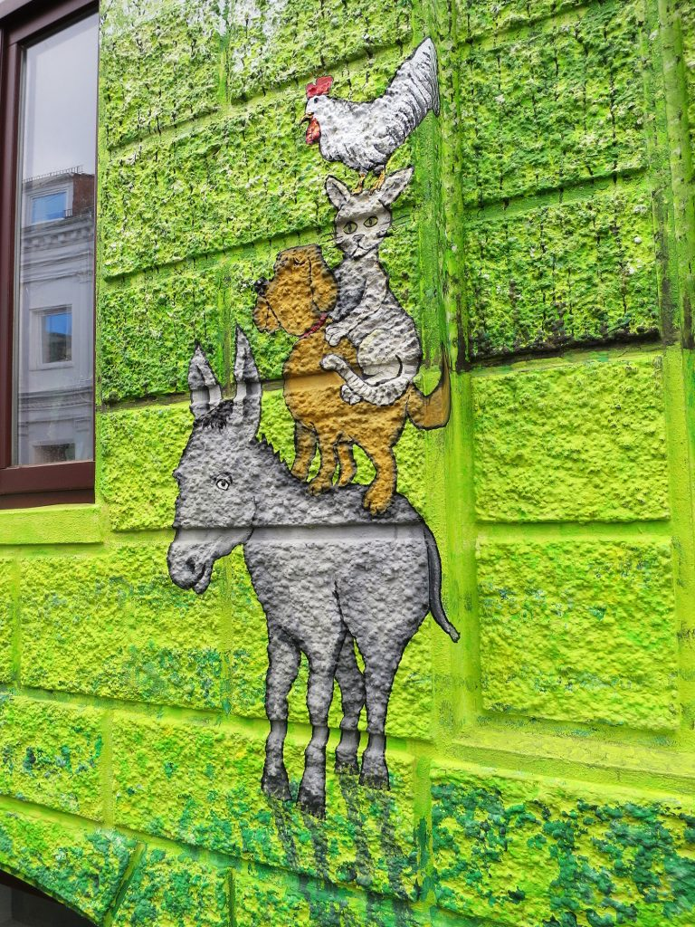 Stadtmusikanten-Graffiti