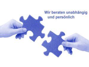 Logo mit zwei Puzzle-Stücken