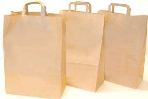 Kaffeefahrt,Drei Einkaufstaschen aus Papier