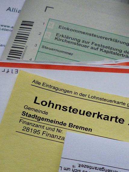 Online-Finanzamt, Formulare und Lohnsteuerkarte