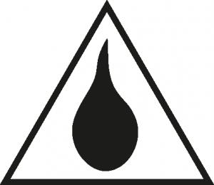 Dreieck mit einem Tropfen in der Mitte