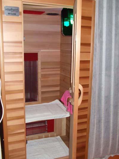Einen Platz besetzen, Blick in eine Sauna