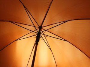 Lesmona, Orange farbener Regenschirm