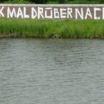 "Graffiti an Mauer am Werdersee ""Denk mal drüber nach"""