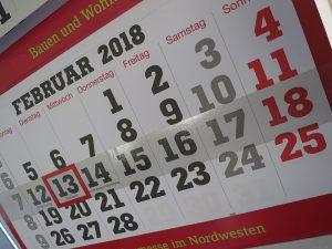 Ein Monat auf einem Wandkalender