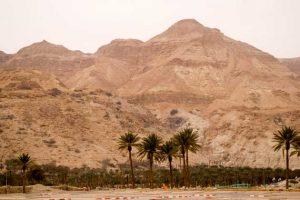 Berge in der Wüste beim Toten Meer in Israel