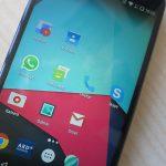 WhatsApp, Bildschirm eines Android-Smartphones