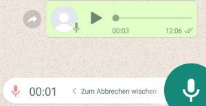 WhatsApp-Ansicht Sprachnachricht
