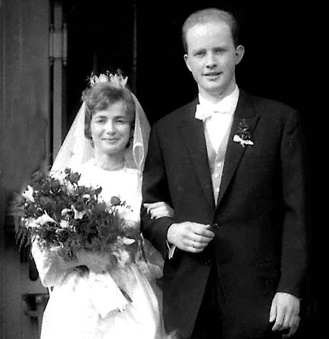 Hochzeit, Hochzeitspaar, schw/weiß