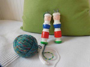 Strickliesl mit Wolle