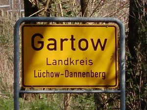 Ortseingangsschild von Gartow
