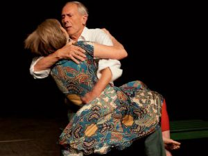 ältere Paar beim Tanz